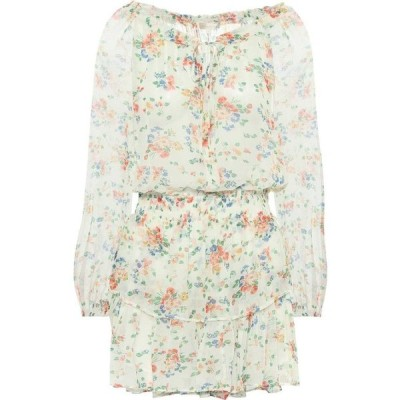 ラブシャックファンシー LoveShackFancy レディース ワンピース ワンピース・ドレス Popover floral silk minidress Floral Confetti