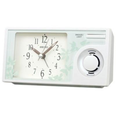 時計 目覚まし時計 セイコークロック 目覚まし時計 SEIKO ネイチャーサウンドめざまし時計 QM-749-W 【返品種別A】