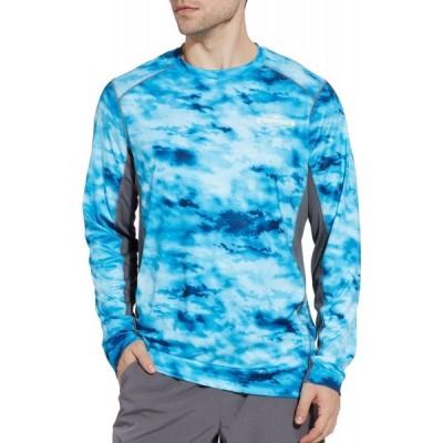 フィールドアンドストリーム Field & Stream メンズ 長袖Tシャツ トップス Evershade Long Sleeve Tech Tee-Print River Rock Camo Blue