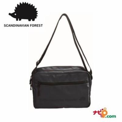 スカンジナビアンフォレスト SCANDINAVIAN FOREST 2ファスナー プリント ショルダー バッグ ネイビー  235-KESF046-NV ハリネズミ