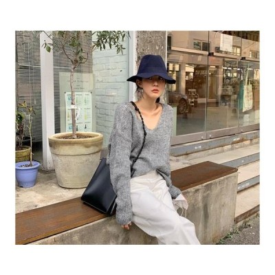 From Beginning レディース ニット/セーター Page V Neck Mo Hair Knit
