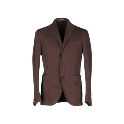 ボリオリ BOGLIOLI テーラードジャケット ダークブラウン 50 コットン 98% / ポリウレタン 2% テーラードジャケット