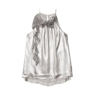 Halston Search Results Web results ホルストン レディース 女性用 ファッション ブラウス Metallic Cascade Top - Silver