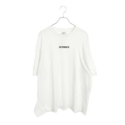 ヴェトモン VETEMENTS 19AW UAH20TR611 サイズ:L フロントロゴパッチTシャツ 中古 SB01