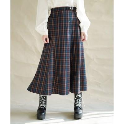 スカート 先染めチェックスカート