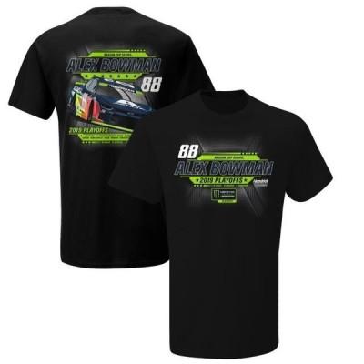 ユニセックス スポーツリーグ モータースポーツ Alex Bowman 2019 Monster Energy NASCAR Cup Series Playoffs T-Shirt - Black