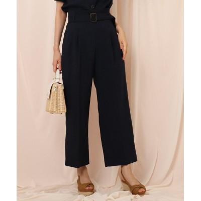 Couture Brooch(クチュールブローチ) 【セットアップ可/WEB限定サイズ(LL)あり】リネンライクベルテッドワイドパンツ