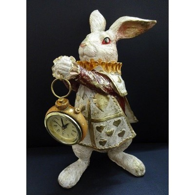 うさぎの時計 置時計 ラビット アンティーク調 うさぎ 666