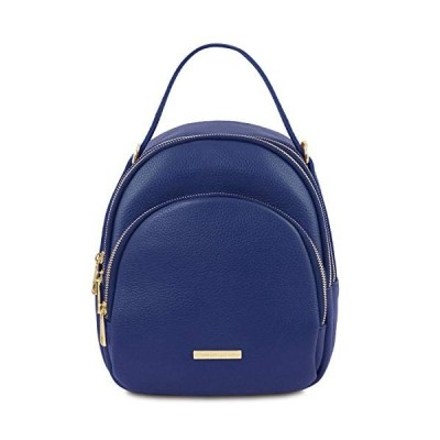 Tuscany Leather TLBag Leather backpack for women Blue並行輸入品