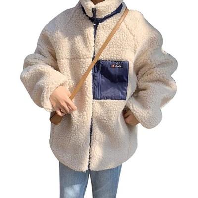 レディース ボアジャケット ボアコート アウターコート ブルゾン ボア もこもこ 防寒 カジュアル 冬 ゆったり アウトドア(s2012251073)