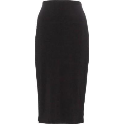 ノーマ カマリ Norma Kamali レディース ひざ丈スカート スカート High-rise stretch-jersey midi skirt Black
