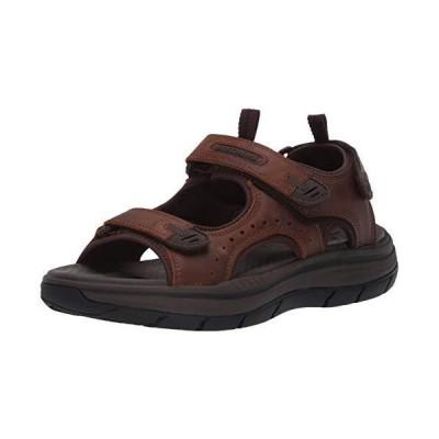 Skechers Men's Expected SdOcho Open Toe Sandal, Crazy Horse Dark Brown, 7 M