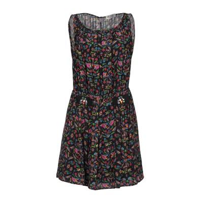 SAN ANDRÉS ミニワンピース&ドレス ブラック 42 シルク 100% ミニワンピース&ドレス