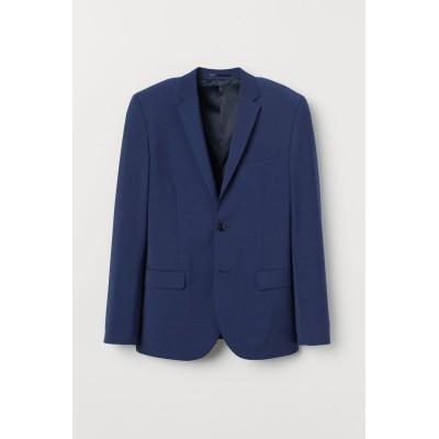 H&M - スキニーフィット ウールブレンドジャケット - ブルー