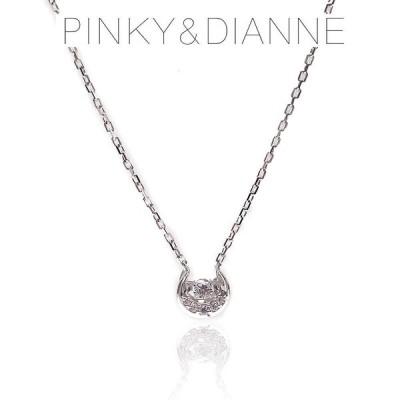 Pinky&Dianne ピンキー&ダイアン ネックレス  VPCPD51588 SV ロジウム コーティング キュービック ジルコニア エクセルワールド ブランド プレゼントにも