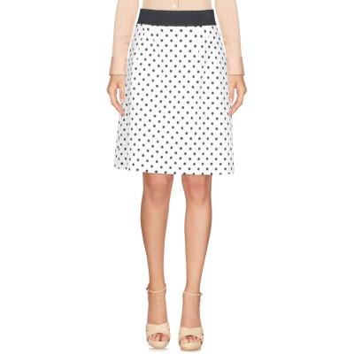 ドルチェ & ガッバーナ DOLCE & GABBANA ひざ丈スカート ホワイト 44 レーヨン 56% / コットン 44% ひざ丈スカート