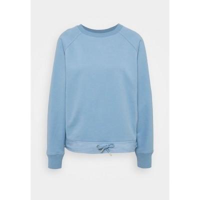 エスオリバー パーカー・スウェットシャツ レディース アウター Langarm - Sweatshirt - light blue
