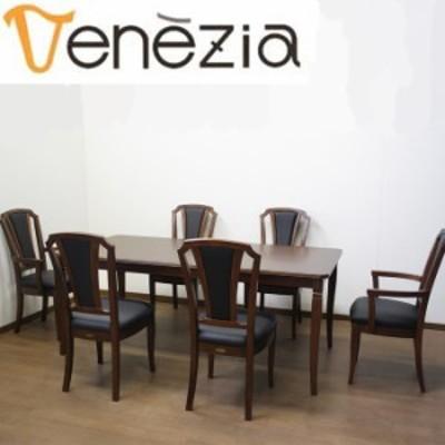ベネチア調象嵌細工シリーズ Venezia ベネチア DT180 チェアK アームチェア ダイニングテーブル ダイニングチェア ダイニングセット 7点