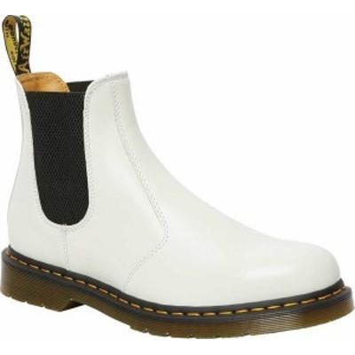 ドクターマーチン レディース ブーツ・レインブーツ シューズ 2976 Yellow Stitch Chelsea Boot White Smooth Leather