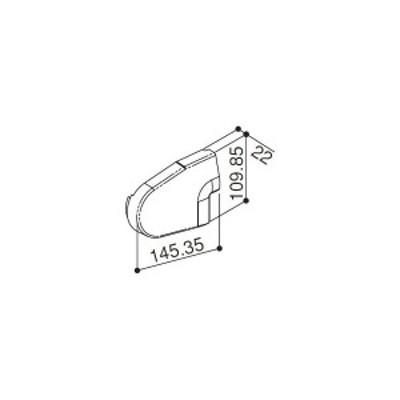 【YKK AP メンテナンス部品】 前枠コーナーキャップF型用 (HH2K-31221)
