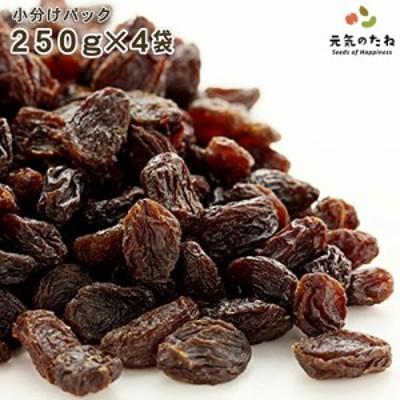 小分け 4×250g レーズン ノンオイル 砂糖不使用 無添加 ドライフルーツ 送料無料