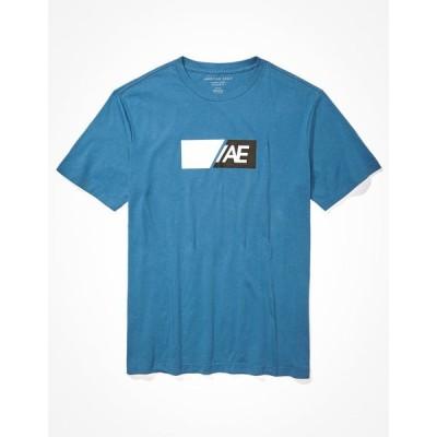 アメリカンイーグル Tシャツ メンズ American Eagle AE Active Graphic T-Shirt Blue