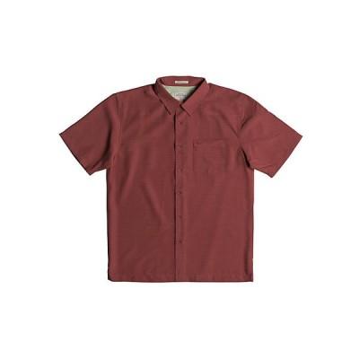 クイックシルバー シャツ メンズ トップス Quiksilver Men's Centinela 4 Shirt Mineral Red