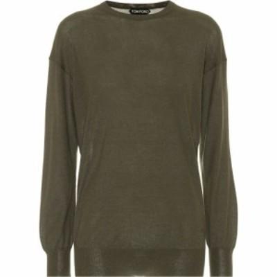 トム フォード Tom Ford レディース ニット・セーター トップス Cashmere and silk sweater Military Green