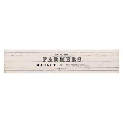 ベストコ ND-9874 ファーマーズマーケット ホワイト さらっと拭ける!ぷにぷにキッチンマット(45×220cm)