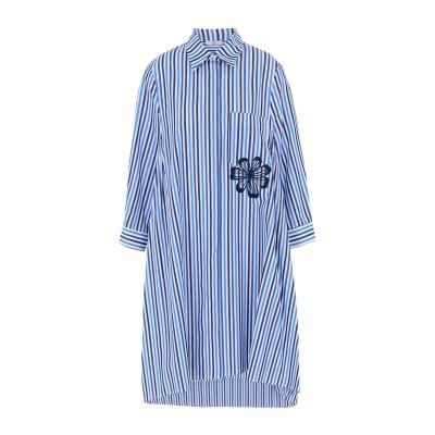 SFIZIO ミニワンピース&ドレス ブルー 44 コットン 100% ミニワンピース&ドレス