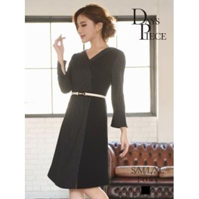 キャバ ドレス ワンピース パーティードレス DaysPiece Vネック 膝丈 韓国ファッション 大きいサイズ ナイトドレス