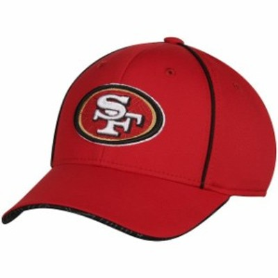 Outerstuff アウタースタッフ スポーツ用品  San Francisco 49ers Youth Red Pipe Structured Flex Hat