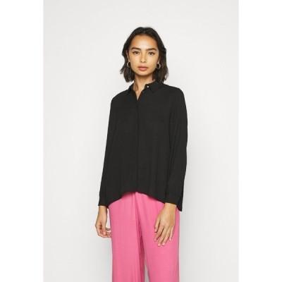 オンリー プティ シャツ レディース トップス ONLVIOLA - Button-down blouse - black