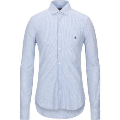 ブルックスフィールド BROOKSFIELD メンズ シャツ トップス striped shirt Sky blue