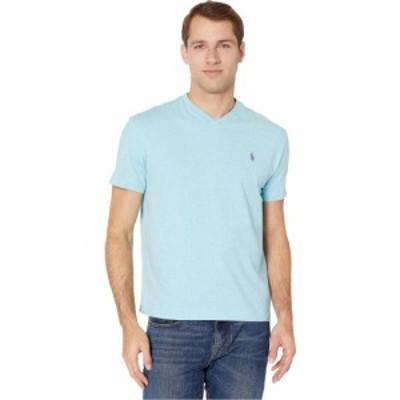 ラルフ ローレン Polo Ralph Lauren メンズ Tシャツ Vネック トップス Classic Fit V-Neck Tee Watch Hill Blue Heather