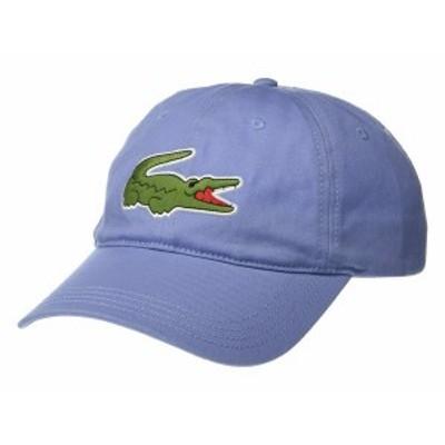 ラコステ メンズ 帽子 アクセサリー Big Croc Twill Leatherstrap Cap Purpy