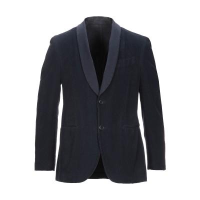 ラルディーニ LARDINI テーラードジャケット ダークブルー 50 コットン 100% テーラードジャケット