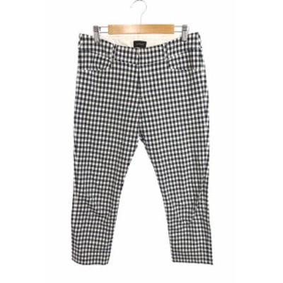 【中古】パリゴ PARIGOT パンツ テーパード ジップフライ ギンガムチェック M 紺 ネイビー /AY2 レディース