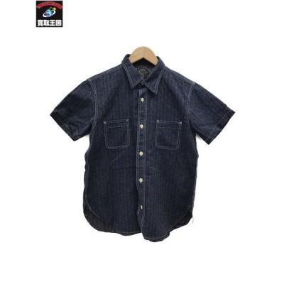 HOOPER WORKS 半袖WORKシャツ (38) 紺[▼]