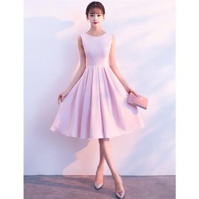 ウェディングドレス ショートドレス パーティードレス 10代 20代 30代 ワンピース おしゃれ フォーマル お呼ばれ カラードレス ワンピ ミニドレス[ピンク]