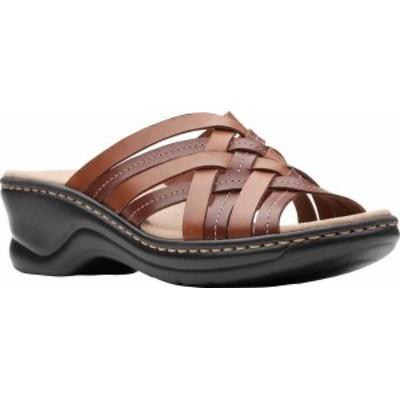 クラークス レディース サンダル シューズ Women's Clarks Lexi Selina Slide Mahogany Full Grain Leather