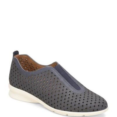 コンフォーティバ レディース スニーカー シューズ Perlace Perforated Leather Slip On Sneakers Navy