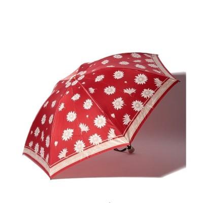 【ランバンオンブルー(傘)】LANVIN ec Blue(ランバンオンブルー) 折りたたみ傘 マーガレット