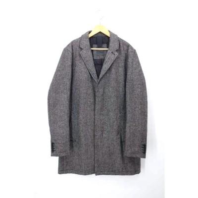 ザラマン ZARA MAN 中綿ツイードチェスターコート メンズ XL 中古 201222