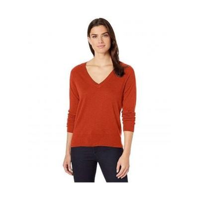 Pendleton ペンドルトン レディース 女性用 ファッション セーター Merino V-Neck Pullover - Baked Clay Heather