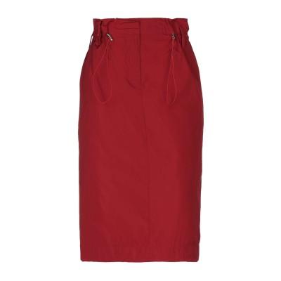 ピアヌラストゥーディ�� PIANURASTUDIO ひざ丈スカート レッド 44 100% ポリエステル ひざ丈スカート