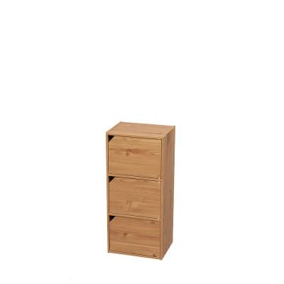 扉付き木目調ボックス