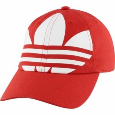 アディダス adidas Originals メンズ キャップ 帽子 relaxed big trefoil strapback Lush Red/White