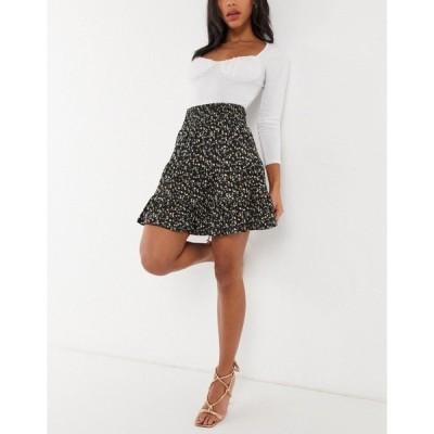 エイソス レディース スカート ボトムス ASOS DESIGN tiered mini skirt in micro-floral print Multi