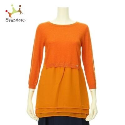 エリザベッタフランキ 七分袖セーター サイズXS レディース 新品未使用 オレンジ系 新着 20210126
